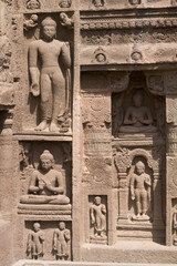 Ancient Carvings at Ajanta Caves in India