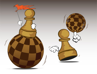 pawns with chess worlds