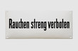 """Leinwanddruck Bild - Altes Emailschild """"Rauchen streng verboten"""" um 1930"""