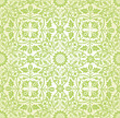 Intertwining Floral Seamless Pattern Green