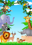 Wild animal in the tropical jungle-