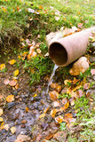 Pipe for a water drain. poster