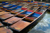 Punts for hire along the River Cam poster