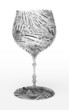Beautiful floral wineglass