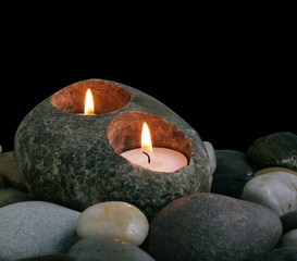 Candles and lstones