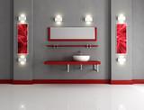 Fototapety Minimalist bathroom