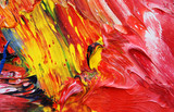 Fototapety close-up view of an oil painting 04