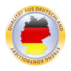 qualität aus deutschland streng kontrolliert karte button