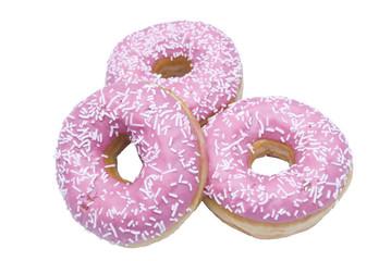 Three isolated doughnuts