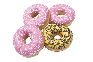 Four isolated doughnuts