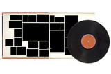 Fold out record sleeve and record, free copy space poster