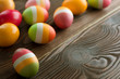 Beautiful colored Easter Eggs.Selective focus