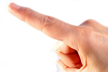 Le doigt pointé