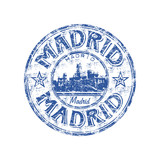 Fototapety Madrid grunge rubber stamp