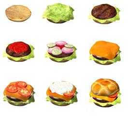 Entstehung eines Hamburgers