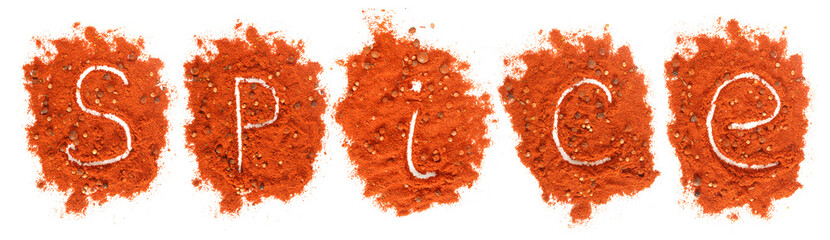 Piles of red paprika