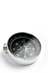 magnetic compass closeup on white background