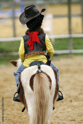 Fotobehang Paardrijden cowboy