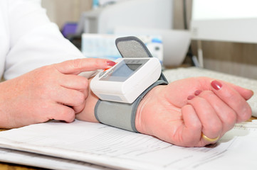 The blood pressure measuring process