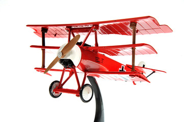 red toy airplane