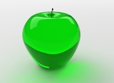 green glass apple