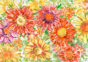 Bouquet of gerberas close up