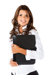 Business woman with a portfolio