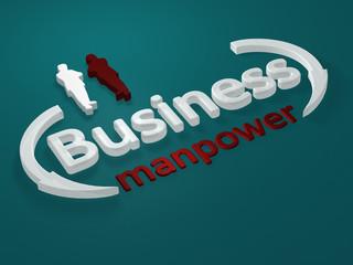 Business - Manpower - Schriftzug