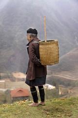 schwarze Hmong Minderheit in den Bergen von Sapa - Vietnam