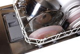 dishwasher with dishes poster