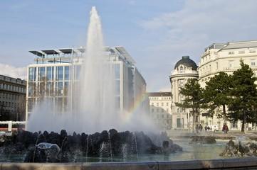 Hochstrahlbrunnen am Schwarzenbergplatz in Wien