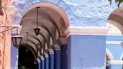 Säulen, Kloster Santa Catalina, Peru