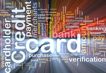 Credit card word cloud box package