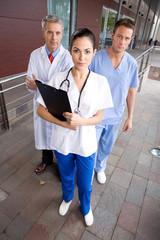 Confident surgeons team