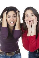 deux femmes en admiration surprise