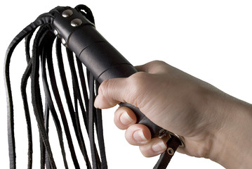 Flogging Whip in woman's hand