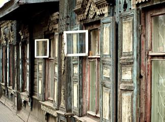 Historisches Holzhaus in der  Metropole Krasnojarsk
