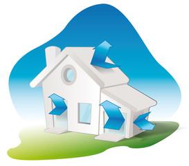 maison avec une bonne isolation thermique