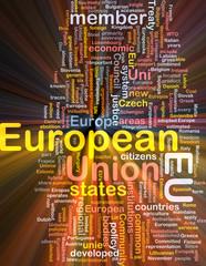 European Union word cloud box package