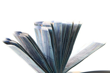 Mehrere Hunderternoten von Schweizer Franken. Sample text.