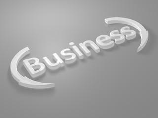 Business - Schriftzug - 3D