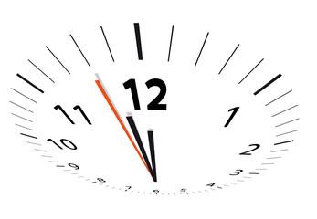 Uhr Zeit Zwölf spät
