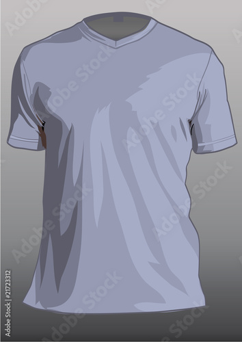 Shirt template with v-neck and short sleeves