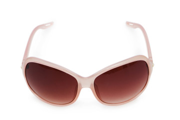 Stylish sunglasses isolated on the white background