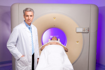 Doctor doing tomography