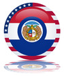 Missouri Flag Web Button (Misouri States USA America Vector)