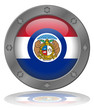State of Missouri Flag Web Button (Misouri USA America Vector)