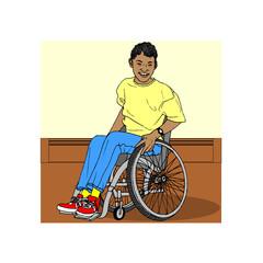 enfant handicapé, illustration