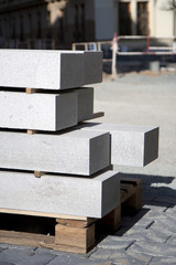 Construction site - granite blocks