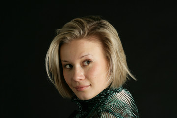 Portrait of the girl-blonde